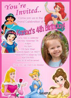 Disney Princess Birthday Party Invitation by CreativePartyPixels