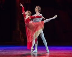 English National Ballet's Romeo & Juliet - Juliet (Daria Klimentova) and Romeo (Vadim Muntagirov).