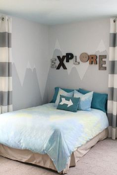 A Painted Mural Makes The Perfect Headboard
