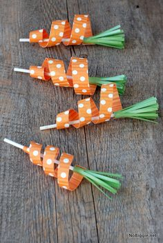 carrot cake toppers - carrot crafts - NoBiggie.net