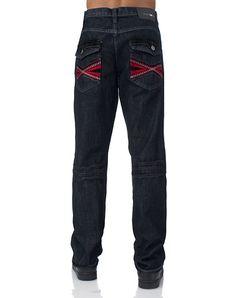 c32d821e835 RAW BLUE 5 pocket design Front zip closure Embroidered pattern on back  pockets
