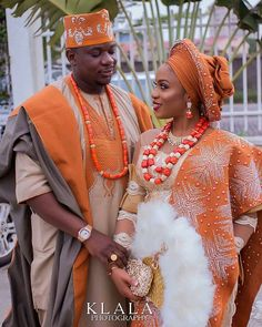 24 Beautiful Traditional Outfits For Nigerian Couples 2020 Nigerian Wedding Dresses Traditional, Traditional Wedding Attire, African Traditional Dresses, African Wedding Attire, African Attire, African Dress, Nigerian Bride, Nigerian Weddings, African Inspired Fashion