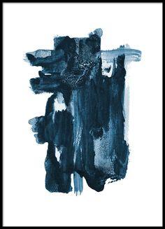 Indigo blue plakat