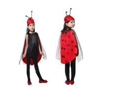 Lovely Cartoon Maid Installed Outfits Ladybug Cosplay Costumes Children Halloween Suit