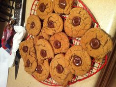 Peanut butter blossoms!!   Pillsbury peanut butter cookie dough rolled in sugar and baked at 375 for 10-12 minutes then put a Hershey kiss in the middle right as soon as they come out!! Yum!!!