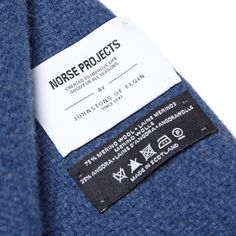 Norse Projects x Johnstons Hop Sack Scarf (Aurora Blue)