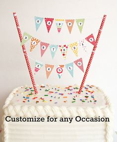 Bonus Kit... Mini Cake Banner / Cake Bunting by TheCleverWorkshop, $7.00