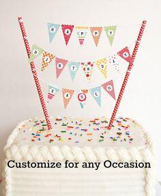 Bonus Kit... Mini Cake Banner / Cake Bunting by TheCleverWorkshop, $7.00