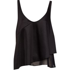 Pull & Bear Neoprene Frill Top (1.420 HUF) ❤ liked on Polyvore featuring tops, shirts, tank tops, blusas, sleeveless tops, neoprene tank, neoprene tank top, sleeveless tank top and sleeveless ruffle shirt