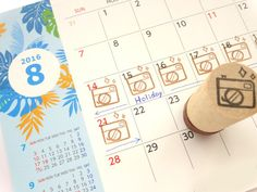 Camera rubber stamp Holiday stamp Summer by JapaneseRubberStamps