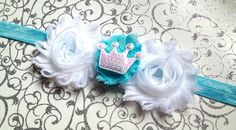 White Sequined Crown Headband by BrittsBeautyBoutique on Etsy, $7.25