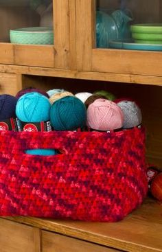 Store Your Stash Basket ~ free pattern