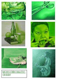 Painting class Sketchbook idea - Monochromatic Series