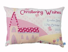 A unique and personalised Christening gift for a little girl. The design is modern, which still holds a biblical theme of small delicate crosses in the background, and features 2 lovely bright flowers, and little birds sitting with them.