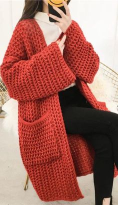 6 original ideas on how to knit a cardigan for women - Crochet clothes . - 6 original ideas on how to knit a cardigan for women – crochet clothes - Crochet Coat, Crochet Cardigan Pattern, Crochet Jacket, Crochet Clothes, Knit Cardigan, Crochet Bunny, Free Crochet, Do It Yourself Mode, Norwegian Knitting