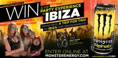 Monster REHAB® Chance to Win a VIP Party Experience in Ibiza Sweepstakes…