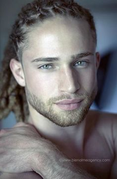 white boys with dreads and he has a beard!! laaawddd!!! Model Alexander Masson