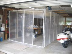 diy paint room - looks like it is made with pvc pipe...