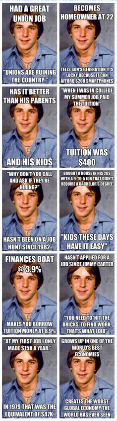 Old Economy Steve: When mediocracy used to cut it- They shut up when you point out the differences.