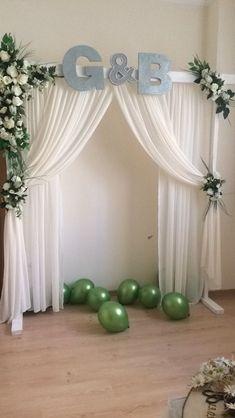 Wedding Tent Decorations, Wedding Backdrop Design, Backdrop Decorations, Backdrops, Turquoise Centerpieces, Elegant Wedding Rings, Arch Decoration, Paper Backdrop, Fabric Wall Art