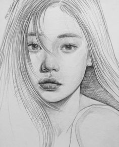 Drawing Pencil Portraits - Pıптегеѕт : ~leacгу~ Discover The Secrets Of Drawing Realistic Pencil Portraits Portrait Sketches, Drawing Sketches, Cool Drawings, Pencil Drawings, Drawing Faces, Drawing Ideas, Drawing Hair, Cool Sketches, Portrait Au Crayon