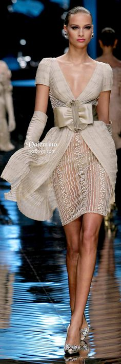Valentino Sultry Neutral Evening Dress. V