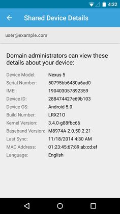 Google Apps Device Policy- screenshot