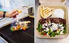 Caspian Kabob is a new food cart in Portland that is focused on bringing you Persian grilled meats and vegetables. Pictured here is their steak kabob over salad. Stay tuned for more of their great story.