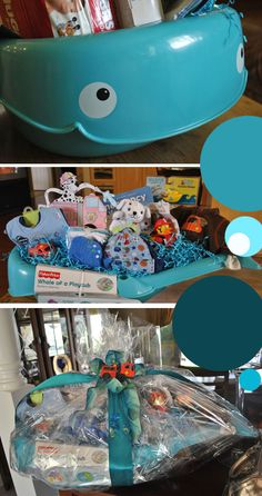 Baby boy baby shower gift idea from my mother in law things baby shower whale themes baby shower decorations whale theme httpterasue baby shower gifts for boysbaby boy gift basketsbaby negle Images