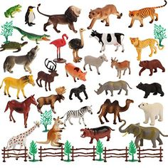 50 Piece Large size Animal Set 30 Animals and 20 Accessories in a Storage Container ** This is an Amazon Affiliate link. Want additional info? Click on the image.