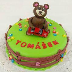 medvídek a autíčko, dětský dort pro vaše nejmilejší Birthday Cake, Desserts, Food, Tailgate Desserts, Deserts, Birthday Cakes, Essen, Postres, Meals