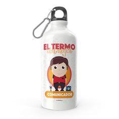 Termo - El termo del mejor comunicador, encuentra este producto en nuestra tienda online y personalízalo con un nombre. Water Bottle, Drinks, Funny, Dietitian, Carton Box, Store, Crates, Drinking, Beverages