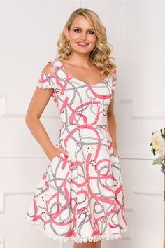 rochie de vara lejera, rochie de vara vaporoasa, rochie de vara eleganta Pastel, Summer Dresses, Floral, Design, Fashion, Moda, Cake, Sundresses, La Mode