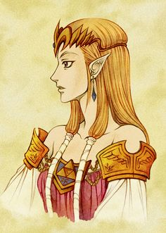Princess Zelda - Color by ~m313n45