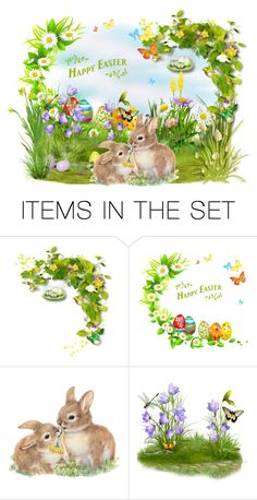 """""""Happy Easter!"""" by asia-12 ❤ liked on Polyvore featuring art"""