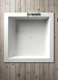 UNICO   Baignoire encastrable By Rexa Design design Imago Design Corian, Bathroom Medicine Cabinet, Swimming Pools, Bathtub, Design Design, Mirror, Showroom, Home Decor, Bathroom Sinks