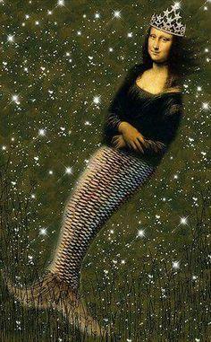 Mona MermaidMona Lisa More Pins Like This At FOSTERGINGER @ Pinterest