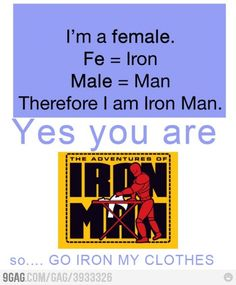 Female = Iron Man (FIX!)