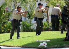 Fearsome L.A. Canine Unit is fearsome.  look at the nosey neighbor standing beside the house lol
