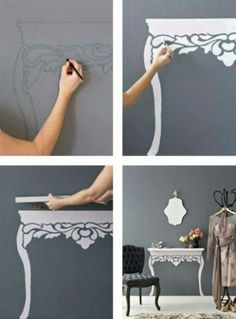 Painted table for small spaces