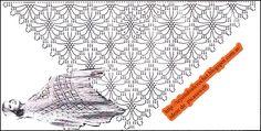 PATRONES=GANCHILLO = CROCHET = GRAFICOS =TRICOT = DOS AGUJAS: CHAL GRAFICO