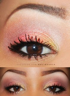 Love this cool warm summer makeup look.