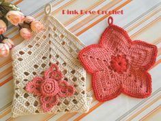 PINK ROSE CROCHET /: Pega Panelas