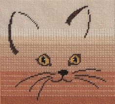 Original charted needlepoint designs for sale in electronic format or hard copy via US Mail. Cute Cross Stitch, Cross Stitch Animals, Cross Stitching, Cross Stitch Embroidery, Crochet Pillow Cases, Bargello Patterns, Cat Fabric, Needlepoint Designs, Crochet Cross