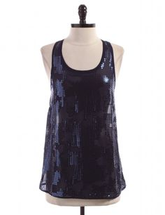 Blue Sequins Tank Top by Sparkle & Fade by Urban Outfitters - Size XS - $14.95 on LikeTwice.com