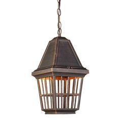 Iva 1 Light Rust Outdoor Pendant