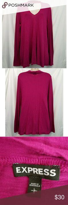 EXPRESS Choker Shirt Long Sleeve Purple EXPRESS Choker Shirt Size Large Express Tops Tees - Long Sleeve