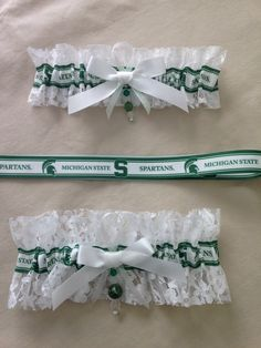 "Michigan State ""Spartans"" Garters by SportzNutty on Etsy"