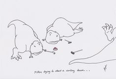 t-rex trying to start a curling team. t-rex-problems Countdown To Extinction, T Rex Arms, T Rex Humor, Always Thinking Of You, Dinosaur Funny, Jokes Pics, Funny As Hell, Make You Smile, Cute Drawings