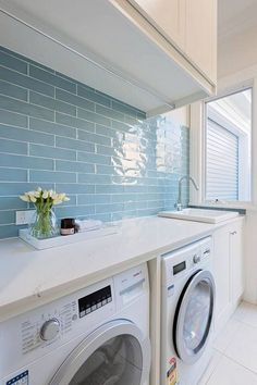 82 Modern Style Bathroom Decor Ideas - Page 48 of 82 Mudroom Laundry Room, Modern Laundry Rooms, Laundry Room Layouts, Laundry Room Remodel, Laundry Room Organization, Laundry In Bathroom, Laundry Room Inspiration, Laundry Room Design, Bathroom Styling